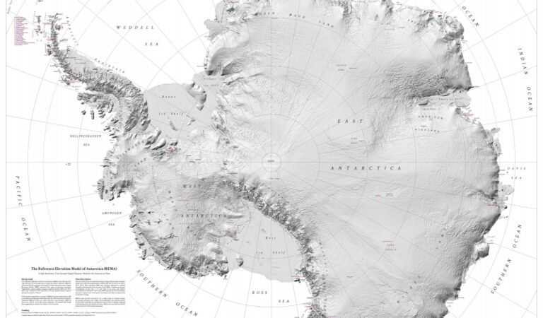 Scientists Release Most Accurate, High-Res Map of Antarctica Revealing Never-Before-Seen Features