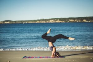 yoga in the seashore