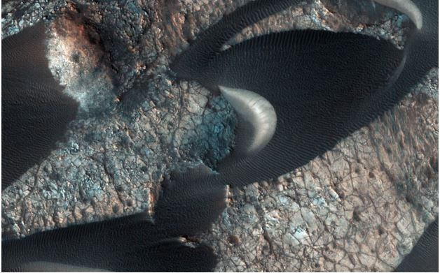 NASA satellite spots strange dunes on Mars
