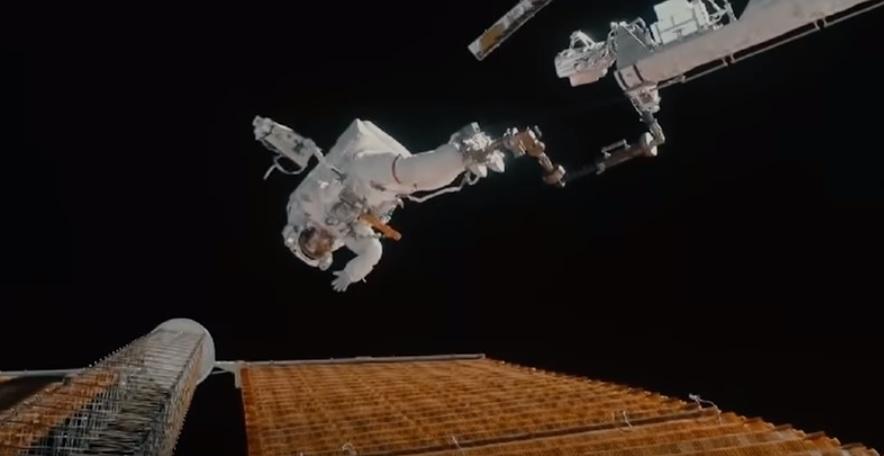 solar panel tear, ISS