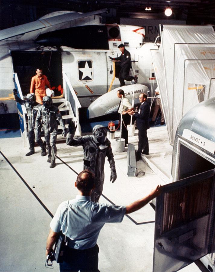 Astronauts in bio suits